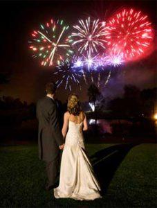 салют свадьба